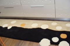 Traversă bucătărie din lana, multicoloră, model cu cercuri - 55