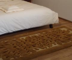 Traversă dormitor/hol din lana, culoare maro, model baroc - 59