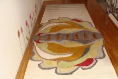 Traversă hol din lana, multicoloră, model floare de nufăr - 60