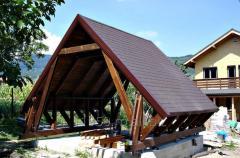 Constructii auxiliare din lemn- Mobilier de gradina
