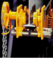 Palanul Skladova cu carucior actionat mecanic