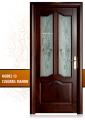 Uşă de interior din Stejar Masiv Stratificat, mahon, 2/3 geam, ISM-013