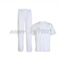 Costum Alb (Bluză cu capse și pantalon)