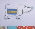 Lenjerie de pat pentru copii, din bumbac 100%, culoare bleu, model Momo (0-3 ani)