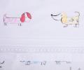 Lenjerie de pat pentru copii, din bumbac 100%, culoare alba, model Momo (0-3 ani)