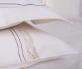 Lenjerie de pat pentru 1 persoana, bumbac 100%, natur, 180x220 cm - LNJ-05