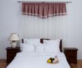 Lenjerie de pat 6 piese, culoare albă, bumbac 100%, model cu volănașe - LNJ-86