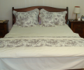 Lenjerii de pat de lux, realizata din bumbac egiptean, model gri, 240x240 cm
