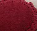 Covor de lana rotund, roșu, cu margine dantelată - 68