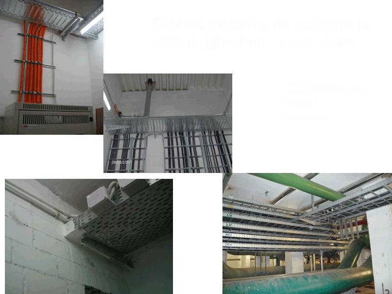 Comanda Sisteme mecanice de sustinere pt..cabluri, jgheaburi, tuburi, doze.