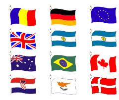 Inscriptionare textil - Steaguri nationale