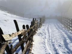 Peisaj Padina Ursului - Drum Iarna