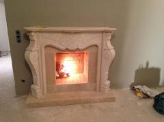 Decorating of fireplace