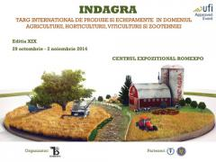 Targ international de produse si echipamente in domeniul agriculturii, horticulturii, viticulturii si zootehniei - INDAGRA