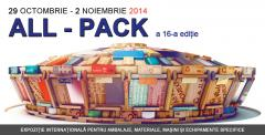Expozitie Internationala pentru Ambalaje, Materiale , Masini si Echipamente Specifice - All Pack