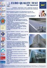 Consultanta Tehnica in vederea Certificarii conformitatii produselor si materialelor de constructii.
