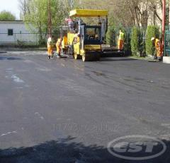 Asphalting roads, pavements, urban territories,